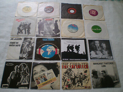 £9.99 • Buy LOT OF 16 PUNK 7  - THE EXPLOITED / XRAY SPEX / UK DECAY / INDIANS IN MOSCOW Kbd