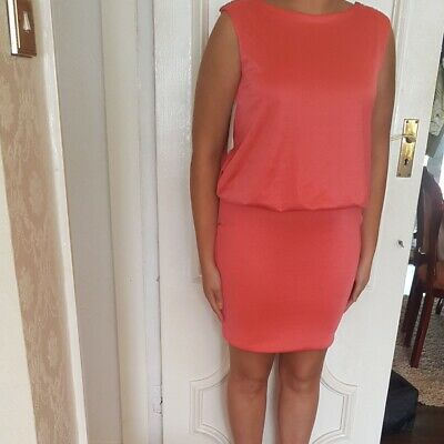 £20 • Buy Brand New Coral Dress From River Island Size 16