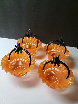 $ CDN20.77 • Buy Vintage 1950s Halloween Hard Plastic Set Best Usa Witch Candy Nut Dishes