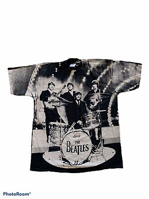 $ CDN188.83 • Buy Vintage 1990s 90s The Beatles Allover Printed Band Tshirt Tee T-shirt Size XL