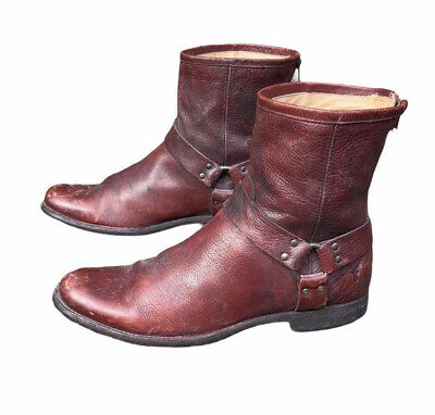 $130 • Buy Frye Mens Vintage Motorcycle Ankle Harness Boots Size 11.5