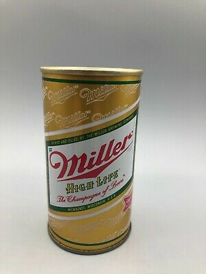 $4 • Buy Sharp 12oz MILLER High Life BO'd SS Pull Tab Beer Can Miller Brewing Milwaukee