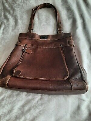 £14 • Buy Lloyd Baker Brown Leather Bag EXC COND