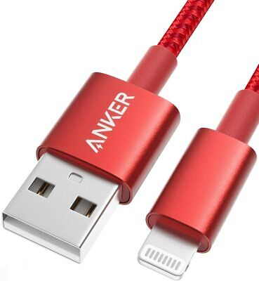 AU26.99 • Buy Anker 6ft Premium Red Lightning Cable, Apple MFi Certified For IPhone Chargers