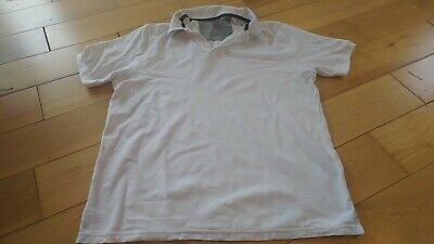 £5 • Buy Marks And Spencer White Cotton Polo Shirt. Size L. Unworn