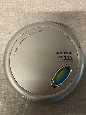 £14.99 • Buy Retro ALBA PCD268 Silver Personal CD Player Bass Boost Programmable Memories.