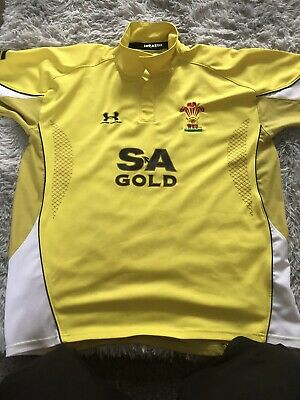 £20 • Buy Gold Wales Shirt Rugby