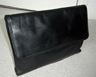 £16.99 • Buy STUNNING PICARD JET 2001 (W Germany) BLACK LEATHER UNISEX DOCUMENT CASE/ATTACHE