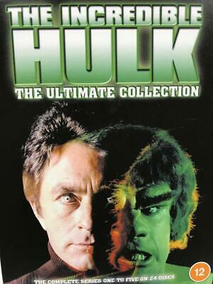 £19.99 • Buy The Incredible Hulk Ultimate Collection Complete Seasons 1-5 DVD 24 Disc Box Set