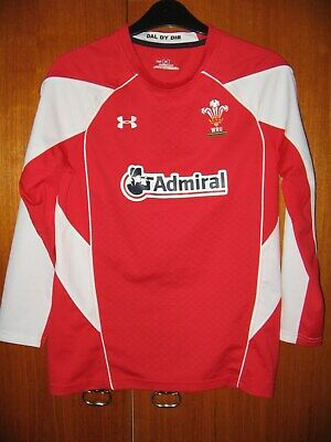 £6.99 • Buy Wales Rugby Union Football Jersey Shirt Under Armour Size YLG Age 11/12/13