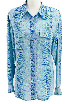 $ CDN62.93 • Buy Equipment Femme Womens 100% Silk Collared Button-Up Top Size Large Animal Print