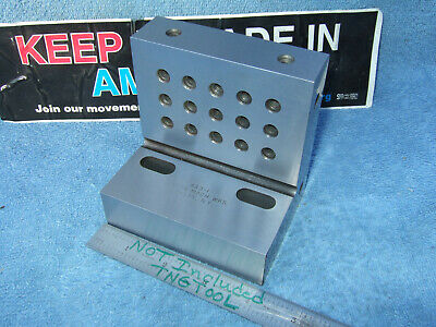 $485 • Buy Anton Machine Works Usa Made Angle Plate Slotted Toolmaker Machinist Very Clean