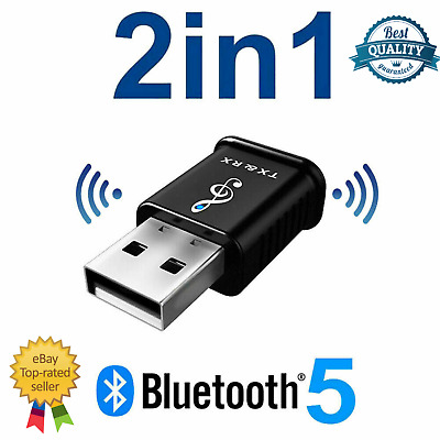 £4.89 • Buy 2 In 1 USB Bluetooth 5.0 Transmitter Receiver AUX Audio Adapter For TV/PC/Car UK
