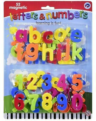 £2.99 • Buy 52 Pcs Magnetic Letters Alphabet & Numbers Fridge Magnets Brand New