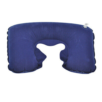 AU5.25 • Buy Inflatable U Shaped Pillow Car Head Neck Rest Air Cushion For Travel Navy