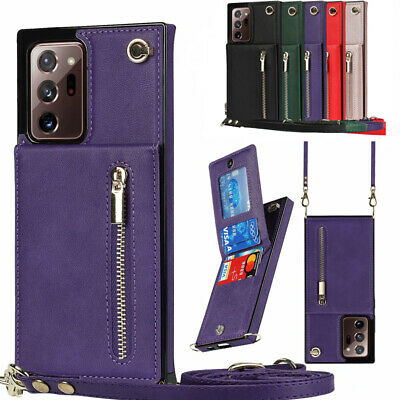 $ CDN6.28 • Buy Crossbody Wallet Case For Samsung Galaxy Note20 Ultra Note10/10+/9 Leather Cover