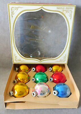 $ CDN18.74 • Buy Christmas Ornament Glass SHINY BRITE Ball Assorted In Box Lot Of 9 USA SELLER