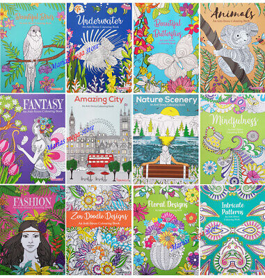 £3.49 • Buy A4 ADULT TEENS ANTI-STRESS MIND RELAXING COLOURING BOOK BOOKS Colour Therapy