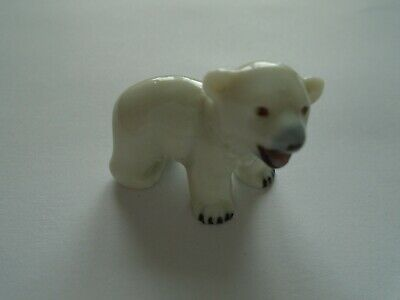 £3.99 • Buy Wade Whimsie Collectable 1950's First Series Polar Bear Cub Miniature Ornament