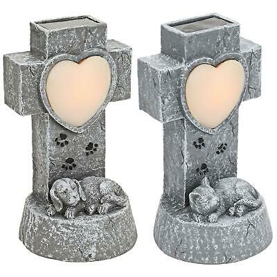 £11.95 • Buy Solar Pet Angel Memorial LED Lights Sympathy Gifts Tombstone Grave Maker Statue