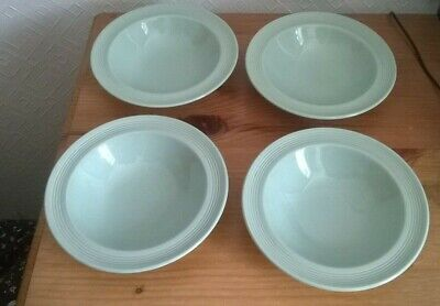 £2 • Buy 4 X VINTAGE WOODS BERYL WARE ART DECO STYLE CEREAL OR SOUP BOWLS CHARITY SALE