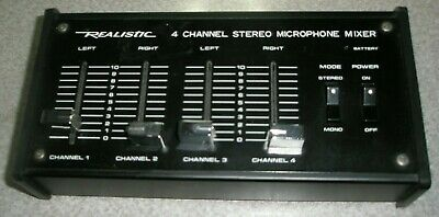 £7.26 • Buy Realistic 4 Channel Microphone Mixer 32-1105