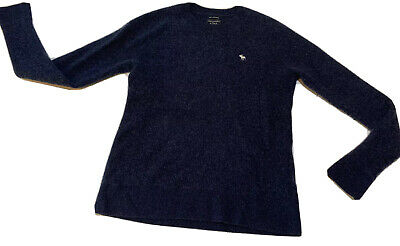 $28.99 • Buy Men's? Abercrombie & Fitch 100% Cashmere Sweater Navy Blue Size Medium