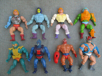 $51 • Buy VINTAGE 1980s MASTERS OF THE UNIVERSE MOTU HE-MAN ACTION FIGURE LOT (8)