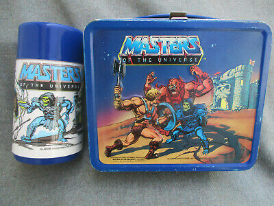 $50.99 • Buy Vintage 1983 Masters Of The Universe Metal Lunch Box & Thermos Bottle Nice C-8