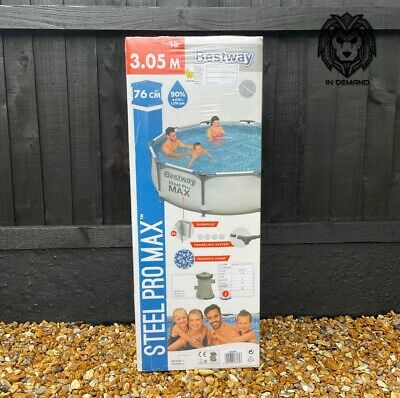£209.99 • Buy Bestway 10ft Steel Frame Pro Max Swimming Pool Pump Filter 1 💦Free Delivery💦