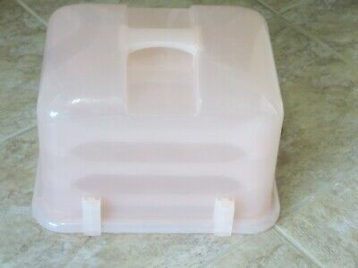 £14.31 • Buy Cupcake Cake Courier Caddy Holds 36 Light Pink Plastic Carrier Tote Versatile ++