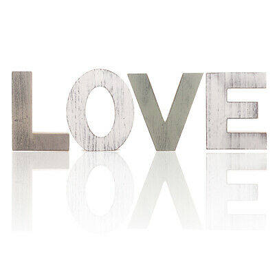 £15.19 • Buy Rustic Wooden Block Word Love Sign Freestanding Wooden Letters Home Decors @ww
