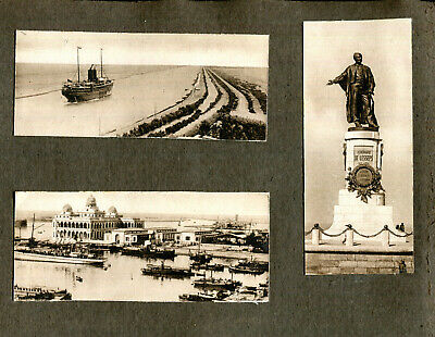 £1.50 • Buy Page Retrieved From 1910s Album 5 Photographs Ships And Shipping Suez Canal