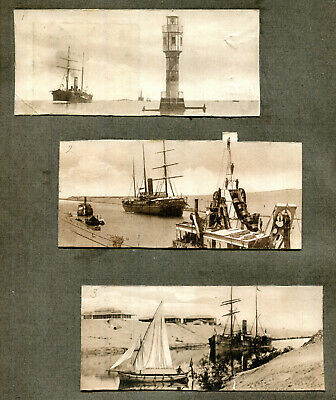 £1.50 • Buy Page Retrieved From 1910s Album 5 Photographs Ships And Shipping Suez Canal (2)