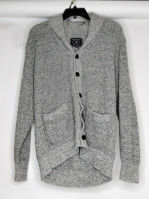 $27.23 • Buy American Eagle Mens XL Color Grey Button Down Dual Pocket Long Sleeve Sweater