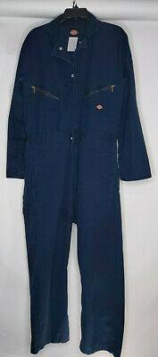 $24.12 • Buy Dickies Men's Coveralls Long Sleeve Solid Blue Snap Button Zipper Pockets Sz 42
