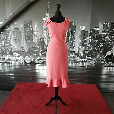 £21.99 • Buy Stunning Dress (Coral-Size 16) Prom, Cruise, Ball, Cocktail, Races, Wedding