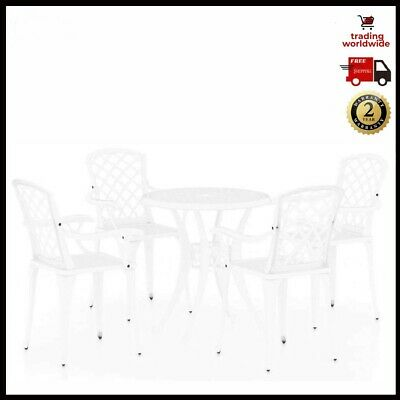 £482.96 • Buy 5 Outdoor Bistro Set White Cast Aluminium Garden Table And 4 Chairs Furniture