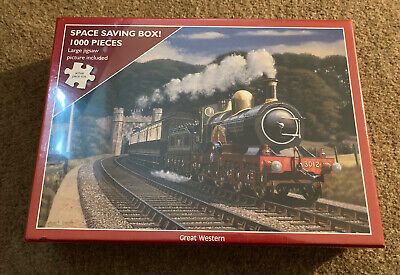 £7.99 • Buy New Great Western Stuart Booth Jigsaw 1000 Piece Otter House Steam Train Puzzle