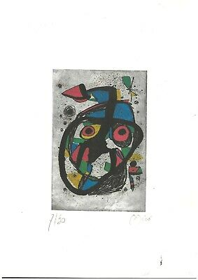£43.15 • Buy Joan Miro' Old Etching - Hand Signed In Pencil - Rare!!!
