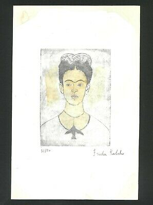£50.35 • Buy Frida Khalo Old Etching- Hand Signed In Pencil