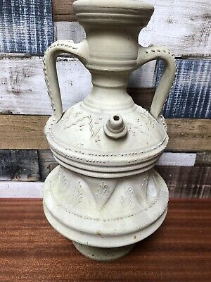 £24.99 • Buy Unusual Pottery Tall Urn With 2 Handles & Pouring Spout Hand Decorated Unglazed