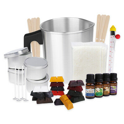 £21.99 • Buy Candle Making Kit, Soy Wax, 16 Color Dyes, Thermometer, Tins, Wicks, Melting Pot
