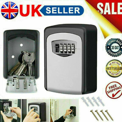 £10.89 • Buy 4 Digit Key Safe - Outdoor High Security Wall Mounted Box Storage Case Lock Code