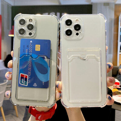 AU4.17 • Buy Shockproof Case With Card Slot Holder For IPhone 13 12 11 Pro Max Mini XS XR X 8