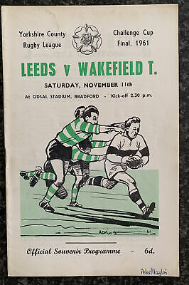 £2.90 • Buy Rugby League Programme / Yorkshire Challenge Cup Final Leeds V Wakefield 1961