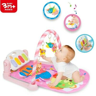 £14.27 • Buy Baby Gym Play Mat Lay & Play Fitness Music Fun Piano Boys Girls With Hanging Toy