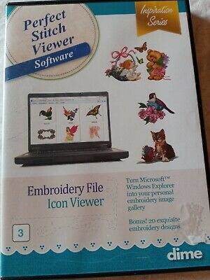 $69.99 • Buy DIME Designs In Machine Embroidery Perfect Stitch Viewer Embroidery Software