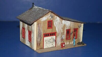 $ CDN33.61 • Buy Vintage HO Scale RR Model Train Building Accessory - WOOD COUNTRY GAS STATION