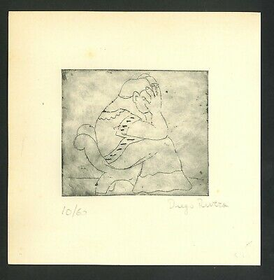 £50.35 • Buy Diego Rivera Old Etching- Hand Signed In Pencil